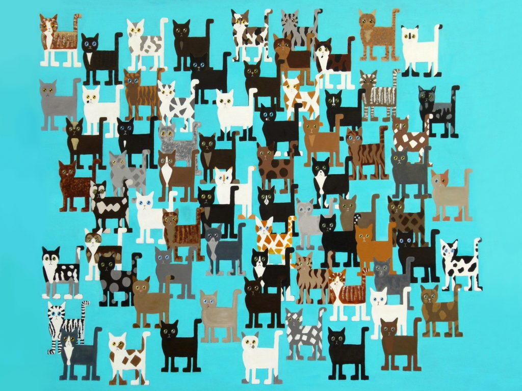 all cats painting